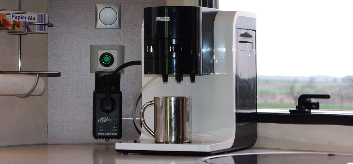 coffee machine watts